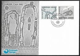 1982 - FOROYAR - FDC + Michel 70/71 - Y&T 64/65 [Vikinger] + TORSHAVN - Féroé (Iles)