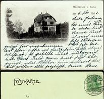 """NIKOLASSEE B.Berlin 1903 Private AK """" Villa """" Bedarf M.o Nikolassee A D Wannseebahn - Sin Clasificación"""