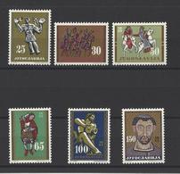 YOUGOSLAVIE.  YT  N° 954/959  Neuf *  1963 - 1945-1992 Socialist Federal Republic Of Yugoslavia