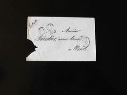 ENVELOPPE DE TULLE POUR USSEL  -  1868  - - Marcophilie (Lettres)