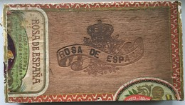 Boîte à Cigares Vintage En Bois ROSA DE ESPANA - Sigaren - Toebehoren