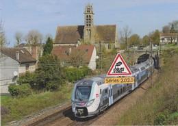 """637 - Automotrice Z 57009/10 """"Ile-de-France Mobilités"""" à Héricy (77) - - France"""