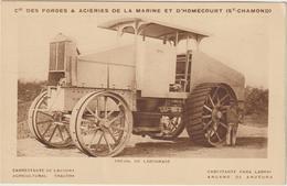 CPA  TRACTEUR TREUIL DE LABOURAGE   ST CHAMOND - Tractors