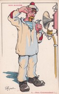 ILLUSTRATEUR  H  GERVESE  NOS MARINS  N° 3 BIEN COMMANDANT !..... - Gervese, H.