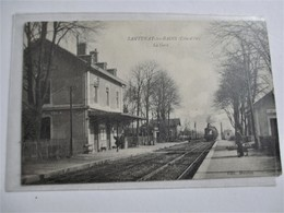 SANTENAY Les BAINS_(Canton · Ladoix-Serrigny)_intérieure De LA GARE Arrivée Du Train_voyagé En 1915 - Otros Municipios