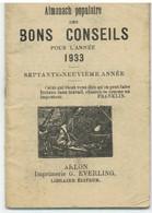 ARLON: EVERLING ALMANACH 1933 (petit Format 8,5 X 12,5cm) 64 Pages - Arlon