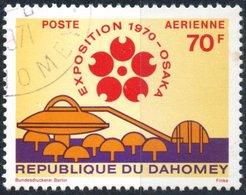 DAHOMEY, POSTA AEREA, AIRMAIL, EXPO OSAKA, 1970, 70 F., FRANCOBOLLO USATO  Mi:DY 420, Scott:DY C124, Yt:DY PA127 - Benin – Dahomey (1960-...)
