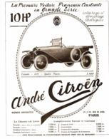 """PUB   """" 10 HP CITROEN """" 1919 ( 10 ) - Autres"""
