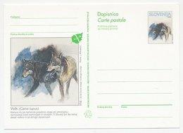 Postal Stationery Slovenia Wolf - Non Classificati