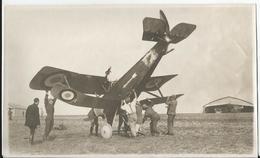 Photo Ancienne - Crash Aérien ?? - Avion - Accident  - Thème Aviation - Première Guerre Mondiale Militaire Animée - Aviation
