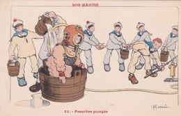 ILLUSTRATEUR  H  GERVESE  NOS MARINS  N° 33  PREMIERE PLONGEE .. - Gervese, H.