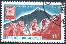 DAHOMEY, SCOUTISMO, 1967, 30 F., FRANCOBOLLO USATO Mi:DY 321, Scott:DY 239, Yt:DY 259 - Benin – Dahomey (1960-...)