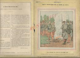 MILITARIA PROTÈGE CAHIER ILLUSTRÉE MILITAIRE GUERRE 1870/71 LE SIEGE DE METZ : - Protège-cahiers