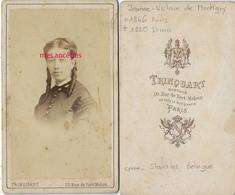 CDV Jeanne Victoire DE MONTIGNY ép Du Général BEHAGUE-dame D'honneur L'impératrice Eugénie (Napoléon III) Par Trinquart - Anciennes (Av. 1900)