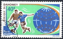 DAHOMEY, POSTA AEREA, AIRMAIL, SPORT, CALCIO, COPPA DEL MONDO, 1970, 40 F., USATO  Mi:DY 414, Scott:DY C121, Yt:DY PA124 - Benin – Dahomey (1960-...)