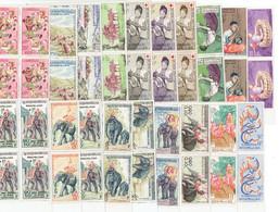 LAOS ASIE - PA BLOCS DE 4 COINS DATES - N°24/26 - 31/32 - 34 - 35/37 - 39/41 - POSTE N°44 - 46/50 - 70 - 1957 - Laos