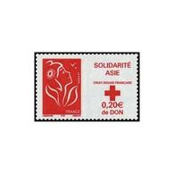 Timbre N° 3745 Neuf ** - Solidarité Asie. Marianne De Lamouche. - France