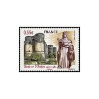 Timbre N° 4326 Neuf ** - René 1er D'Anjou (1409-1480). Statue Du Roi à Aix En Provence Et Château D'Angers. - Francia