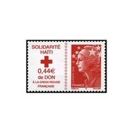 Timbre N° 4434 Neuf ** - Croix-Rouge Française. Solidarité Haïti. - France