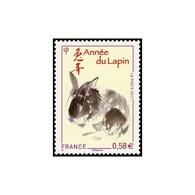 Timbre N° 4531 Neuf ** - Année Chinoise Du Lapin. Lapin Et Idéogramme. - Frankrijk