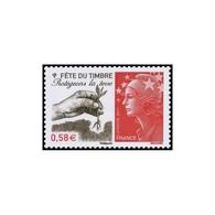 """Timbre N° 4534 Neuf ** - Fête Du Timbre. Protégeons La Terre"""". Marianne Et L'Europe, Main Plantant Un Jeune Plant."""" - France"""