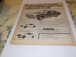 ANCIENNE PUBLICITE  VOITURE TOYOTA CELICA  1973 - Cars