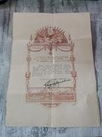 Document Militaire 1917 Médaille D'une Infirmière Sur Ambulance N 208 à VERDUN. Pour Les Soins Des Intoxiqué Par Le Gaz - Documents