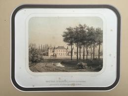 Belle Gravure Ancienne Château De Belgique De Hannut Comte Hyacinthe De Liedekerke - Documenti Storici