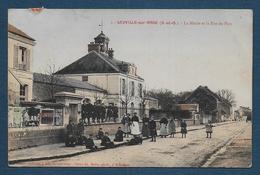 LEUVILLE SUR ORGE - La Mairie Et La Rue Du Parc - Autres Communes