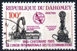 DAHOMEY, CENTENARIO UNIONE INTERNAZIONALE TELECOMUNICAZIONI, 1965, 100 F., USATO Mi: 251, Scott: 202, Yt: 222 - Benin – Dahomey (1960-...)