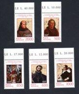 Francobolli Vaticano 1992 - Nuovi - 5 Valori - Vaticano