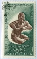 DAHOMEY, POSTA AEREA, AIRMAIL, SPORT, GIOCHI OLIMPICI, 1968, 70 F., USATO Mi:DY 362, Scott:DY C87, Yt:DY PA91 - Benin – Dahomey (1960-...)