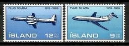 Iceland 1969 Islandia / Aviation Airplanes Aircrafts MNH Aviacion Aviones Luftfahrt / Cu15710  31-59 - Airplanes