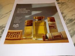 ANCIENNE   PUBLICITE PARFUM EQUIPAGE  DE HERMES 1973 - Parfums & Beauté