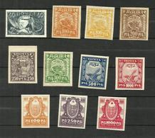Russie N°143 à 150, 151, 152 Neufs Avec Charnière* (variété 144 Offert) Cote 5.80 Euros - Unused Stamps