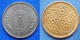 GUYANA - 1 Cent 1970 KM# 31 Independent Since 1966 - Edelweiss Coins - Guyana