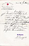 Document Croix Rouge Française Union Des Femmes De France Juillet 1915 . Infirmière Major Hôpital Auxiliaire 101 - Documents