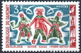 DAHOMEY, DANZE NATIVE, 1964, 3 F., FRANCOBOLLO NUOVO (MLH*) Mi:DY 234, Scott:DY 186, Yt:DY 206 - Benin – Dahomey (1960-...)