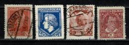 Polska  1927 Yv. 330/33,  Obl/gebr/used - 1919-1939 République