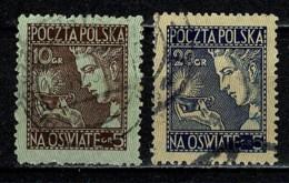 Polska  1927 Yv. 334/34, Mi 247/48 Obl/gebr/used - 1919-1939 République