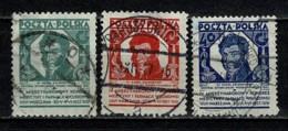Polska  1927 Yv. 336/38 Obl/gebr/used - 1919-1939 République