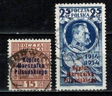 Polska  1935 Yv. 389A/389B Obl/gebr/used - 1919-1939 République