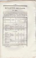 Bulletin Des Lois 806 De 1841 - Péage Passage Bacs Et Bateaux Département Haute Saône Et Sur La Loire Dép Loire - Décrets & Lois