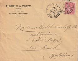 56 PONTIVY Enveloppe  GUINOT De La BOISSIERE Avoué - France
