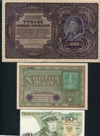 LOT DE 5 BILLETS D'AUTRICHE - ALLEMAGNE - POLOGNE - Monnaies & Billets