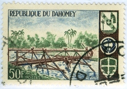 DAHOMEY, SCOUTISMO, 1966, 50 F., FRANCOBOLLO USATO  Mi:DY 289, Scott:DY 225, Yt:DY 245 - Benin – Dahomey (1960-...)