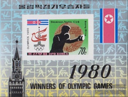 North-Korea Block84B (complete Issue) Unmounted Mint / Never Hinged 1980 Medalists Olympics - Korea, North