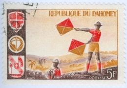 DAHOMEY, SCOUTISMO, 1966, 5 F., FRANCOBOLLO USATO  Mi:DY 286, Scott:DY 222, Yt:DY 242 - Benin – Dahomey (1960-...)