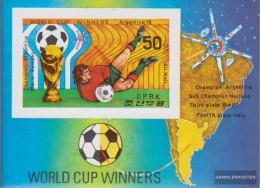North-Korea Block52B (complete Issue) Unmounted Mint / Never Hinged 1978 Football-WM 1978 - Korea, North