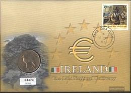 Ireland 1349 On Numismatic With 1 Pound-Mint FDC 2001 Pound-Münzbrief Battle Kinsale - Coins & Banknotes